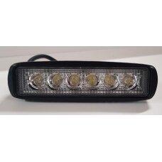 Žibintas LED 12/24V,18W TR-1618 stačiakampis