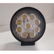 Žibintas LED 12/24V,27W TR-5527R apvalus