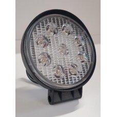Žibintas LED 12/24V,27W TR-5527R apvalusSLIM