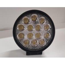 Žibintas LED 12/24V,42W TR-7642 apvalus