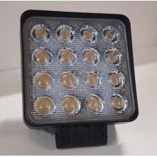 Žibintas LED 12/24V,48W TR-7248  kvadratinis