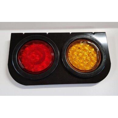 Žibintas galinis LED LT110 2 skyr.(166x145x20)