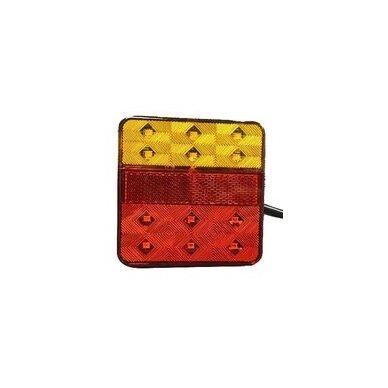 Žibintas galinis LED LT131 (100x100 mm)