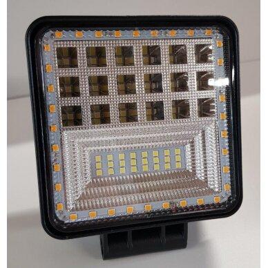 Žibintas LED 12/24V,126W TR-5126 baltas/geltonas
