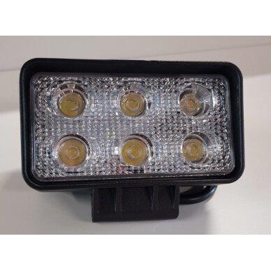 Žibintas LED 12/24V,18W TR-1118 stač. dvi eilės