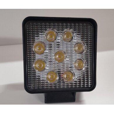 Žibintas LED 12/24V,27W TR-5527S  kvadratinis