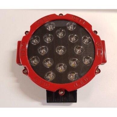 Žibintas LED 12/24V,51W TR-B051-02 apvalus raudona